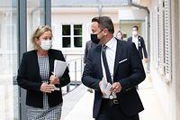 Politik, Pressekonferenz, Xavier Bettel und Paulette Lenert, Foto: Chris Karaba/Luxemburger Wort