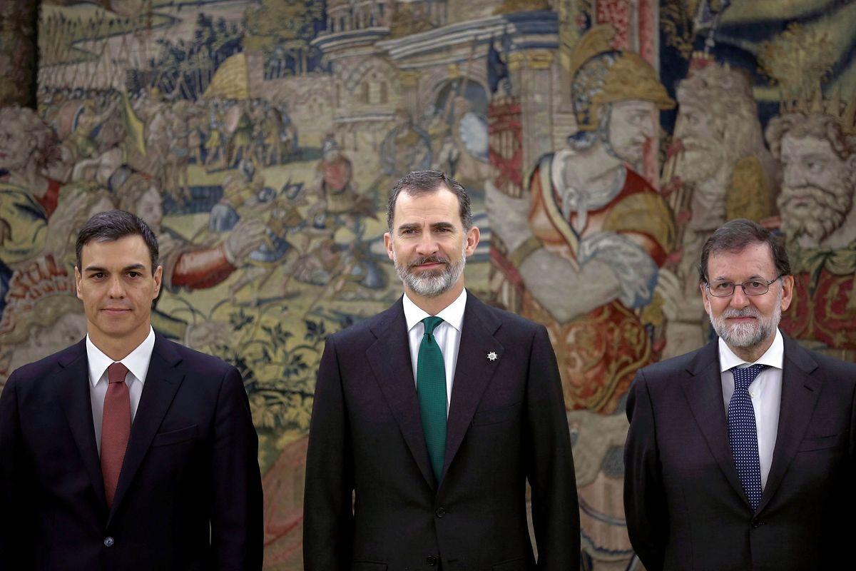 Pedro Sánchez tomou hoje posse, no Palácio de Zarzuela, depois de ter ganho na sexta-feira uma moção de censura contra Mariano Rajoy