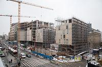 Lok , Bauprojekt Royal Hamilius , Foto:Guy Jallay/Luxemburger Wort