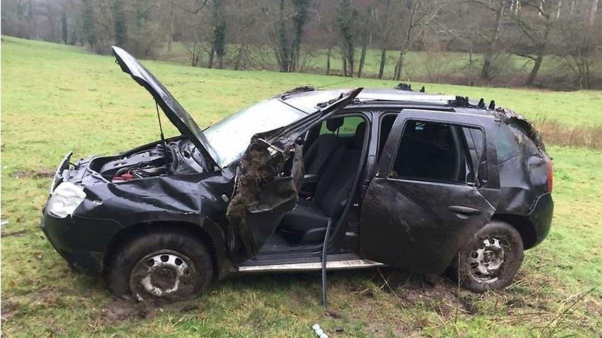 No acidente no Mullerthal o condutor teve apenas ferimentos ligeiros