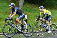Fausto Masnada (34) et  João Almeida . Cyclisme: Skoda Tour du Luxembourg. Steinfort. Foto: Stéphane Guillaume