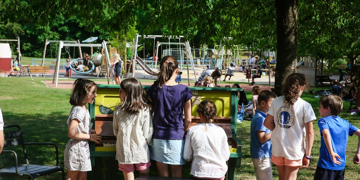 Ob geübt oder nicht: Jeder kann an den Klavieren musizieren.