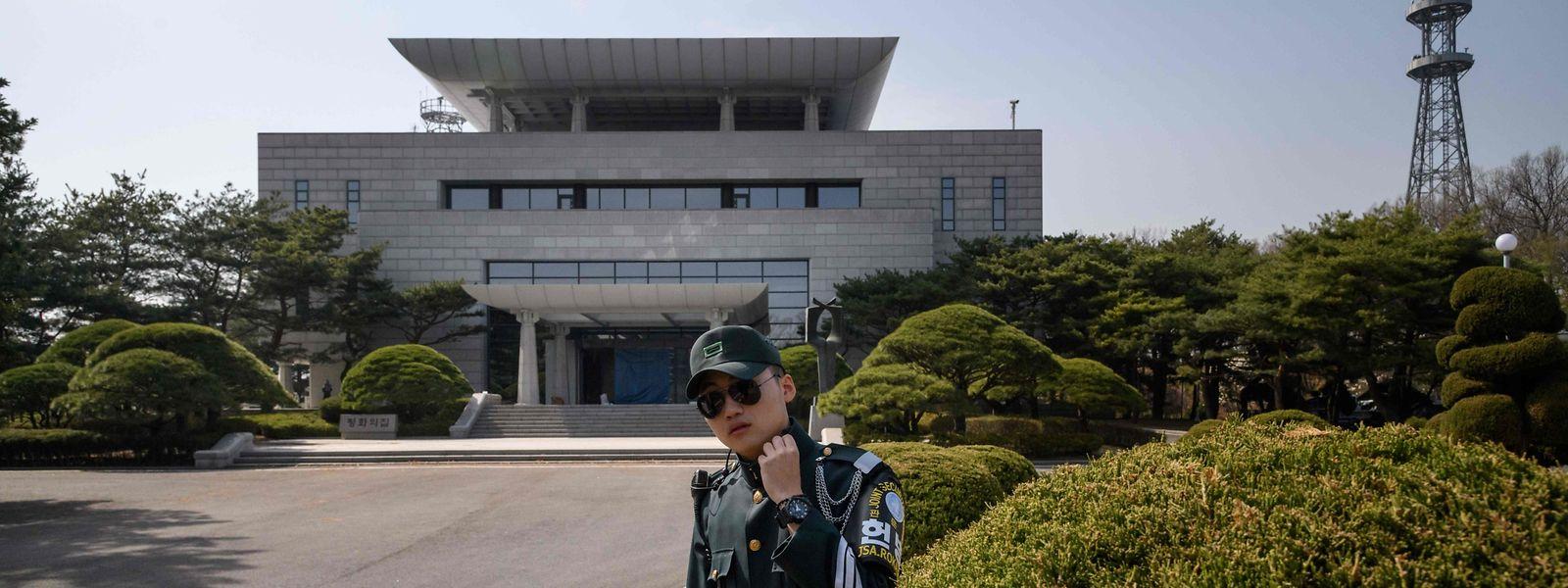 Der Grenzort Panmunjom zwischen Nord- und Südkorea soll laut US-Berichten als Treffpunkt ausgeschlossen worden sein.