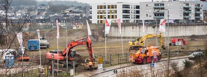 In Differdingen haben die Arbeiten am neuen Auchansupermarkt begonnen.