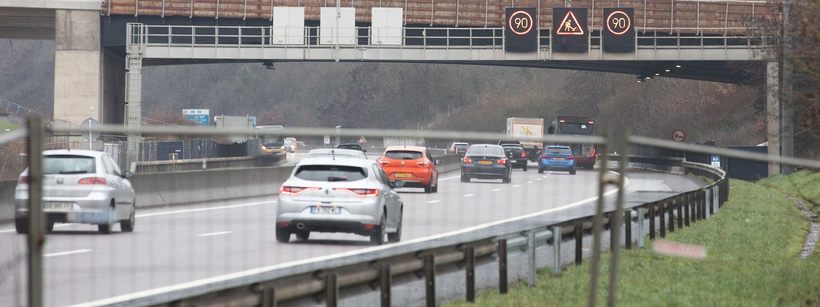 Autofahrer aus dem Süden, die in Richtung Hauptstadt fahren wollen, brauchen Geduld.