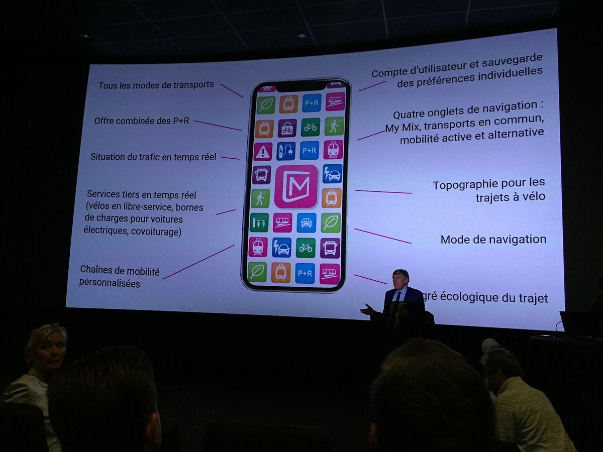 François Bausch a présenté en grande pompe la nouvelle version de l'application «Mobilitéit».