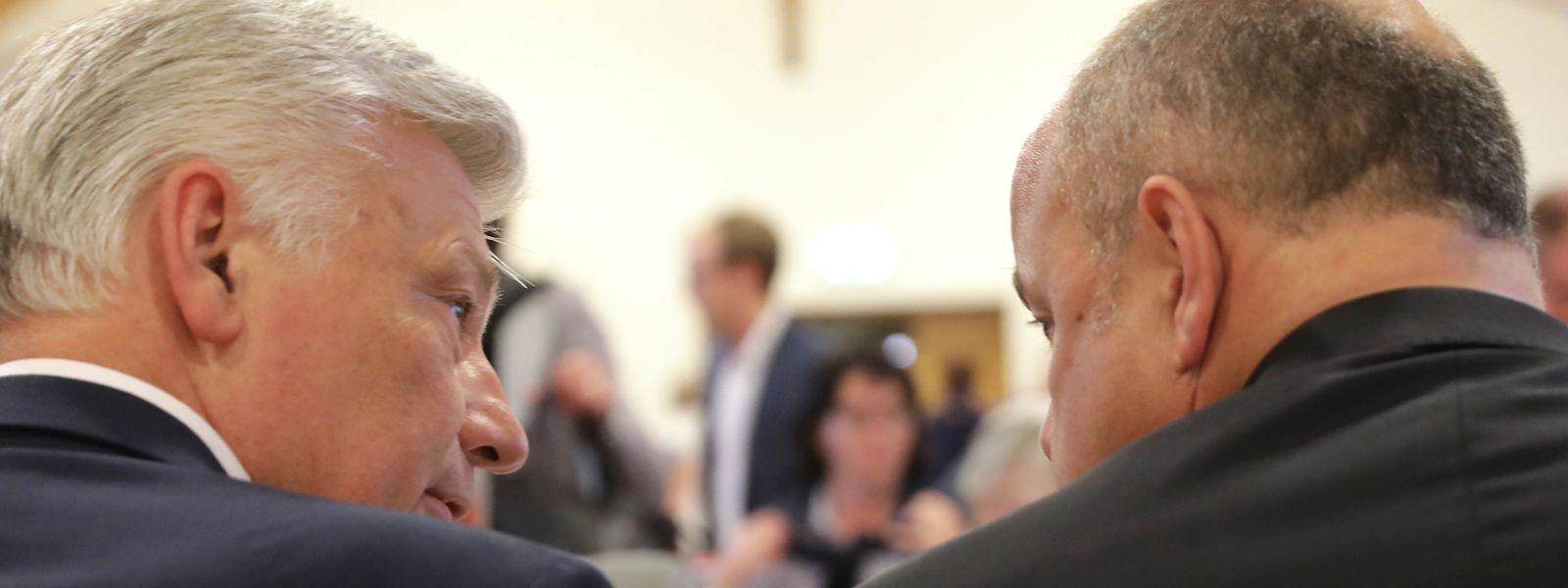 Le 16 octobre 2018 à Luxembourg-Belair: Claude Wiseler (à gauche) et Marc Spautz, les deux figures des élections 2018 se retrouvent face au comité national élargi du CSV.