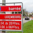 16.4.Chantier A6 / Belagarbeiten Autobahn Arlon-Luxemburg zwischen Strassen und Cessingen / Helfent Foto.Guy Jallay