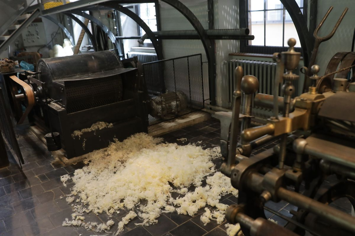 Wool woven into cloth was a staple industry in bygone times