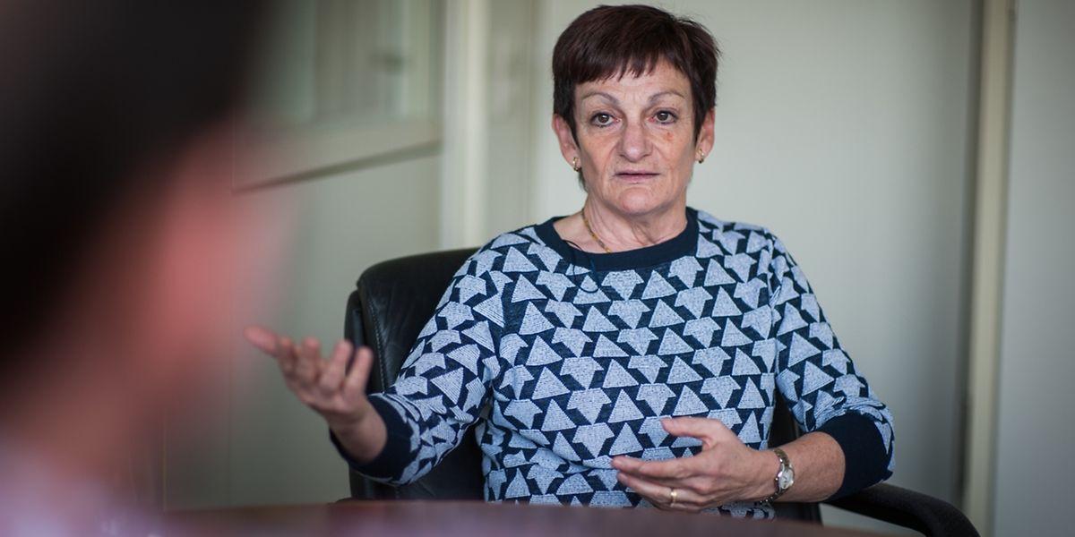 """""""Ich war überrascht über die Auszeichung"""", so Marie-Paule Hoffmann, die """"Bénévole sportive"""" von 2016."""