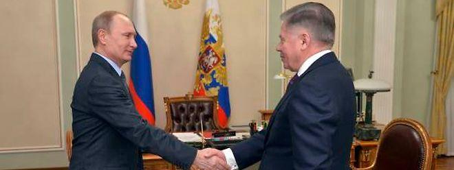 Putin beim Treffen mit dem Vorsitzenden des Obersten Gerichts, Wjatscheslaw Lebedew.