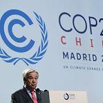 COP25. Guterres apela ao aumento da vontade política de líderes mundiais