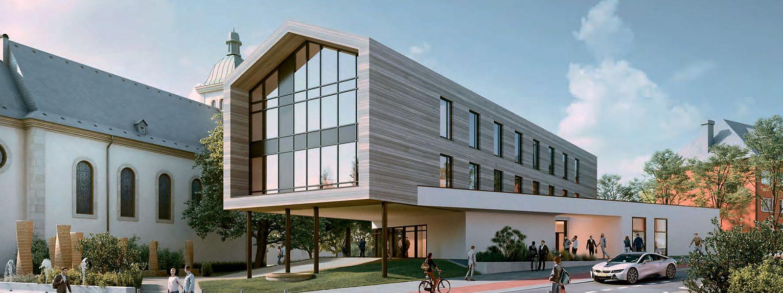 So könnte das neue Gemeindehaus aussehen.