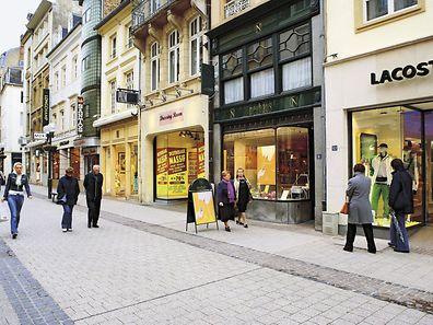 Einkaufsstrasse in der Oberstadt