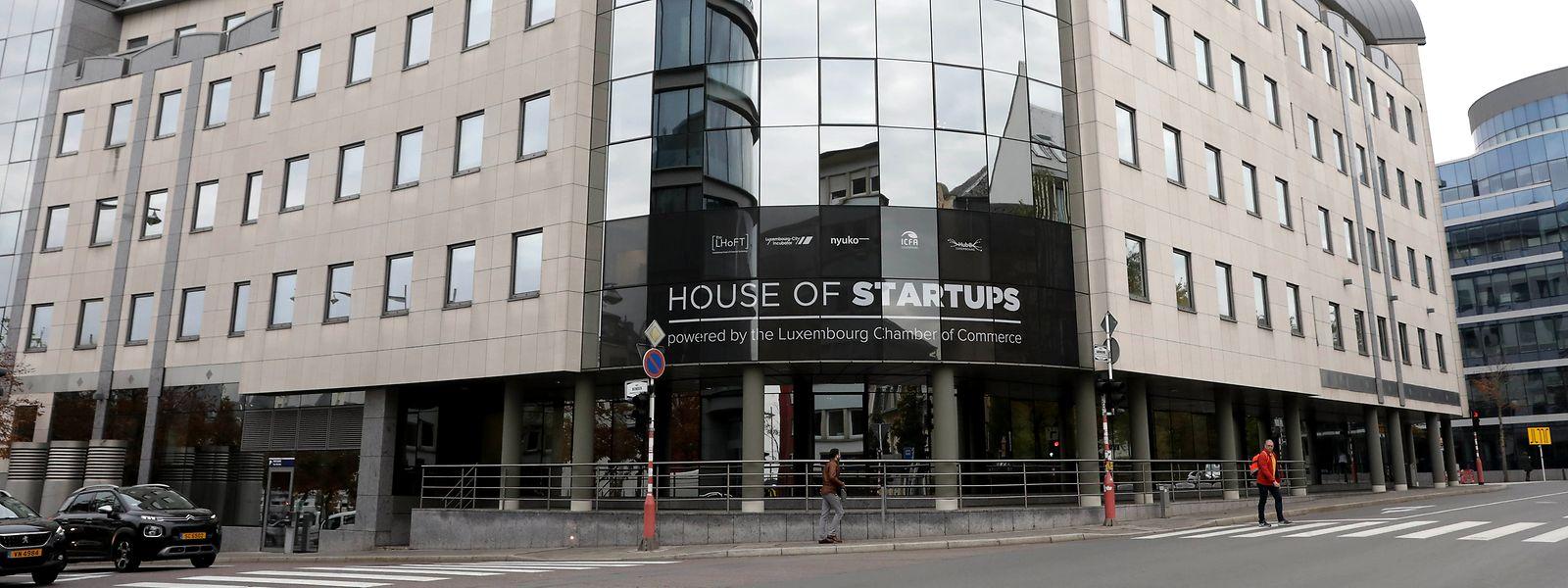 Nicht zu übersehen: In der Rue du Laboratoire in Luxemburg-Stadt befindet sich das fünfstöckige House of Startups.