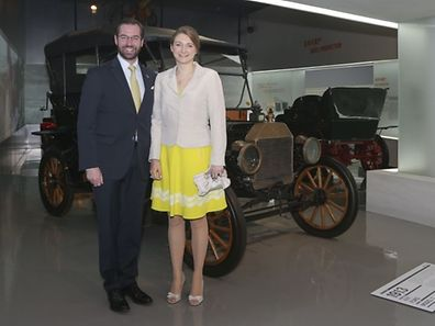 (de g. à dr.) S.A.R. le Grand-Duc héritier ; S.A.R. la Grande-Duchesse héritière ;