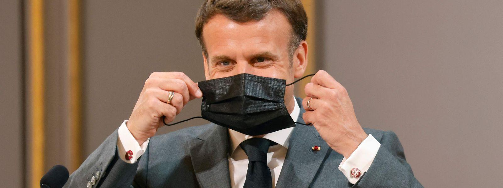 Präsident Emmanuel Macron hatte in der vergangenen Woche weitgehende Öffnungen angekündigt.