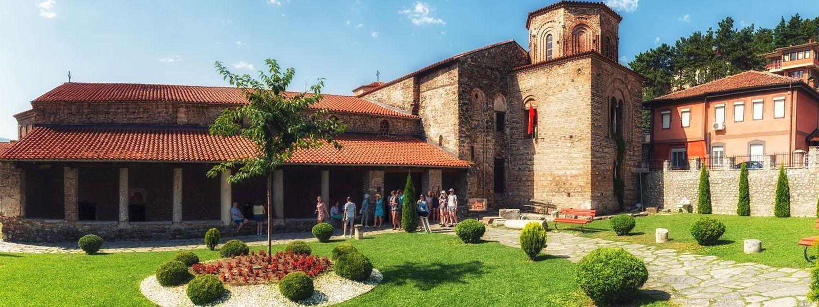 Die Sophienkirche in Ohrid überrascht mit einem spektakulären Bildprogramm aus der Zeit der Großen Kirchenspaltung von 1054.
