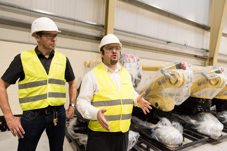 In der neuen Produktionsstätte von Carlex in Potaschberg.