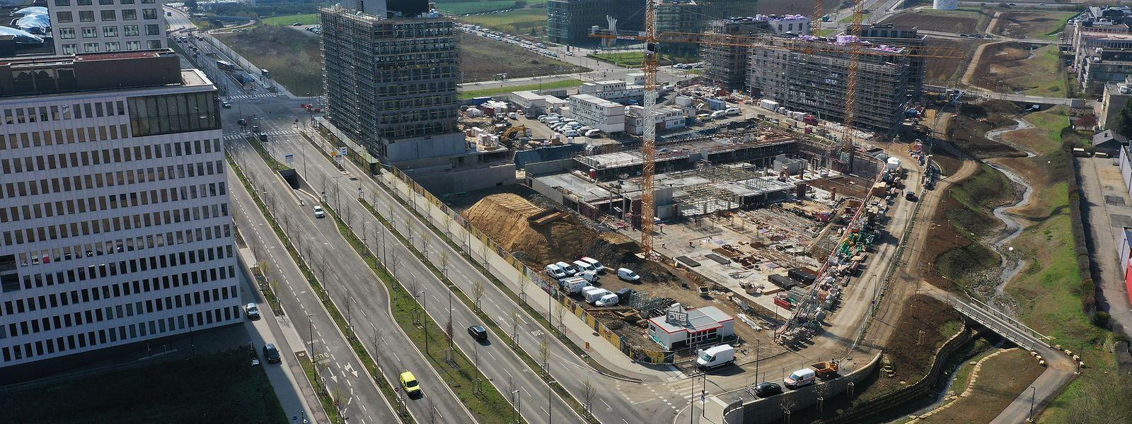 Es wird fleißig gebaut im Ban de Gasperich.