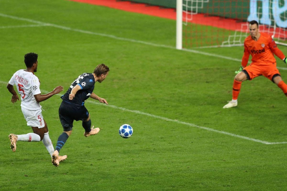 Ruud Vormer a inscrit le dernier but brugeois à Monaco.