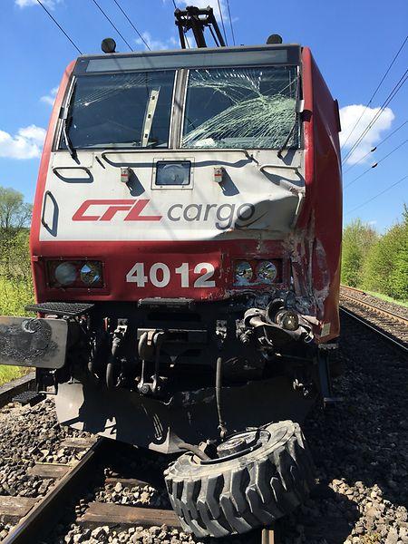 Le conducteur du train a été légèrement blessé