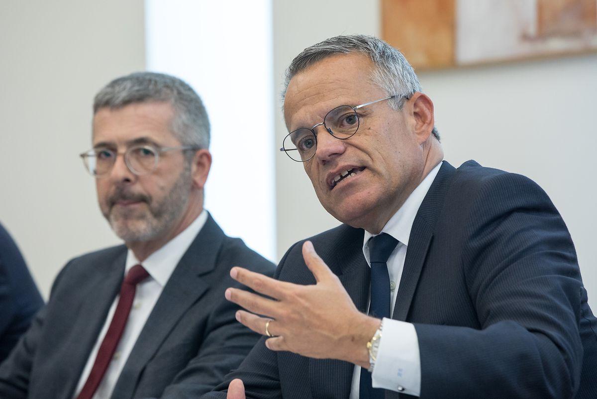 Serge de Cillia und Guy Hoffmann von der ABBL.