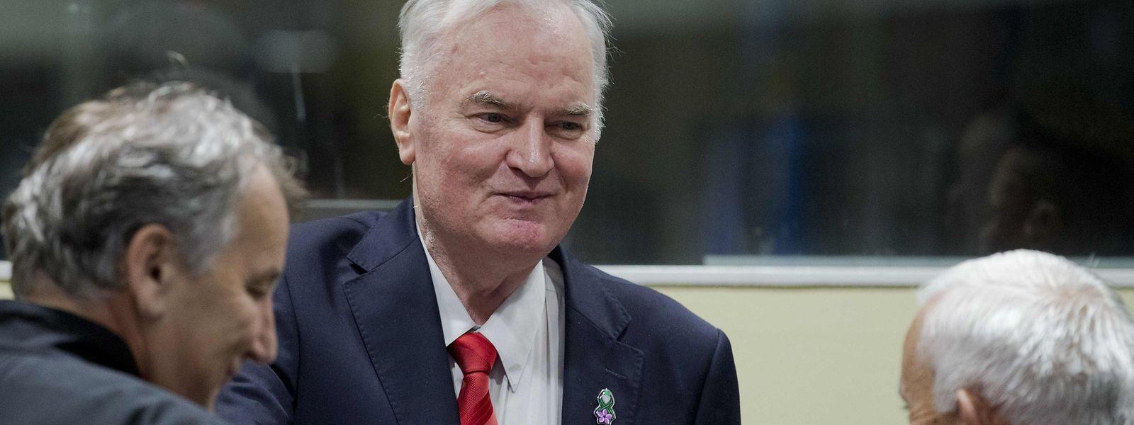 Ratko Mladic vor Gericht.