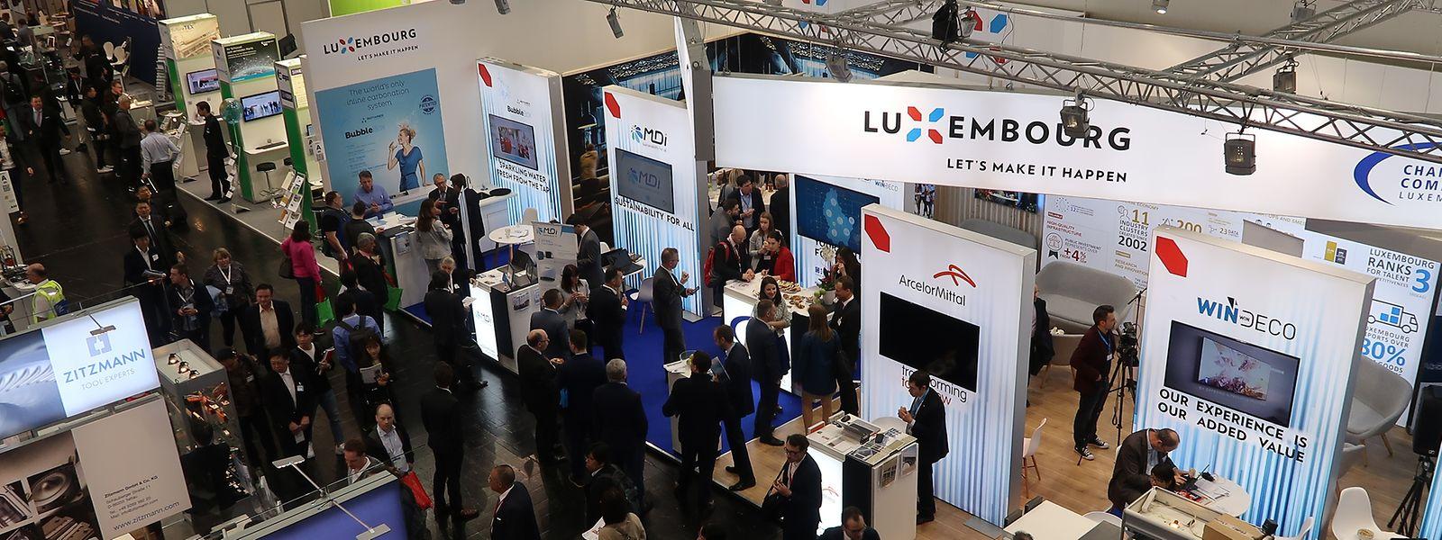Anders als 2017 ist Luxemburg in diesem Jahr wieder mit einem Gemeinschaftsstand in Hannover vertreten.
