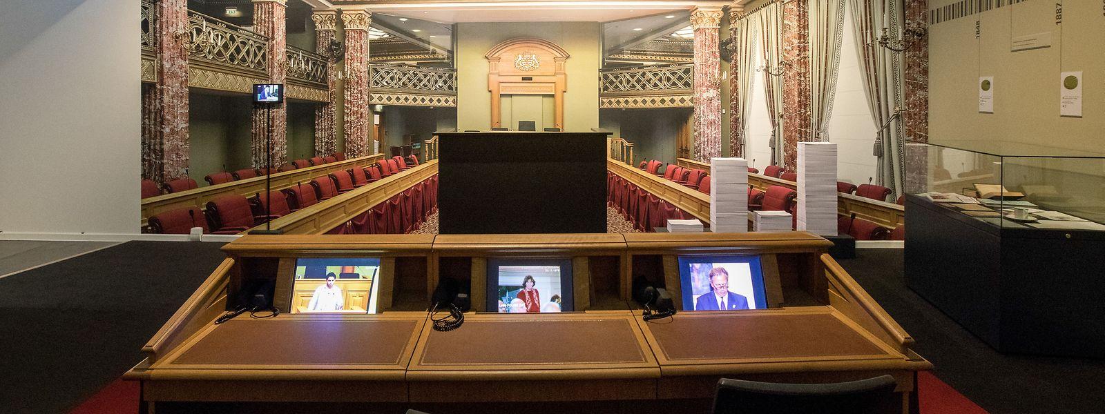 Die Chamber ist das Zentrum der Demokratie. Auch sie hat ihren Platz in der Ausstellung #MirWieleWatMirSinn