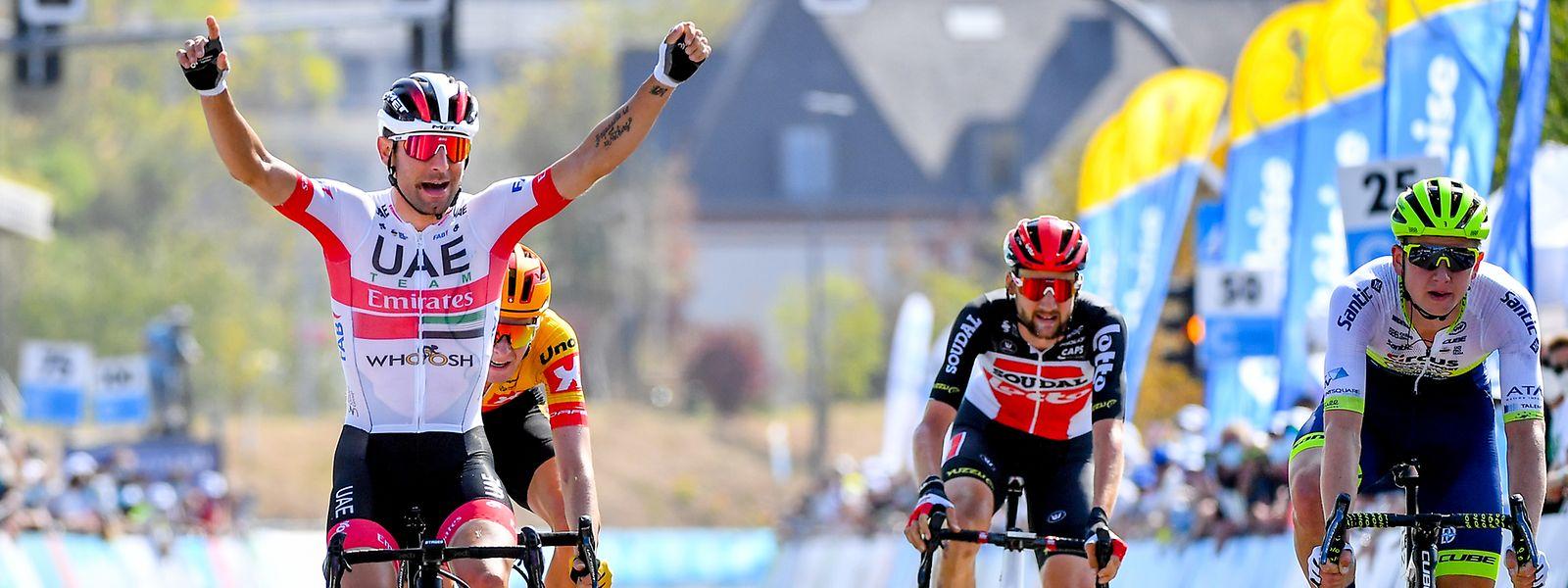 Diego Ulissi sichert sich den zweiten Etappensieg bei der SkodaTour de Luxembourg 2020.