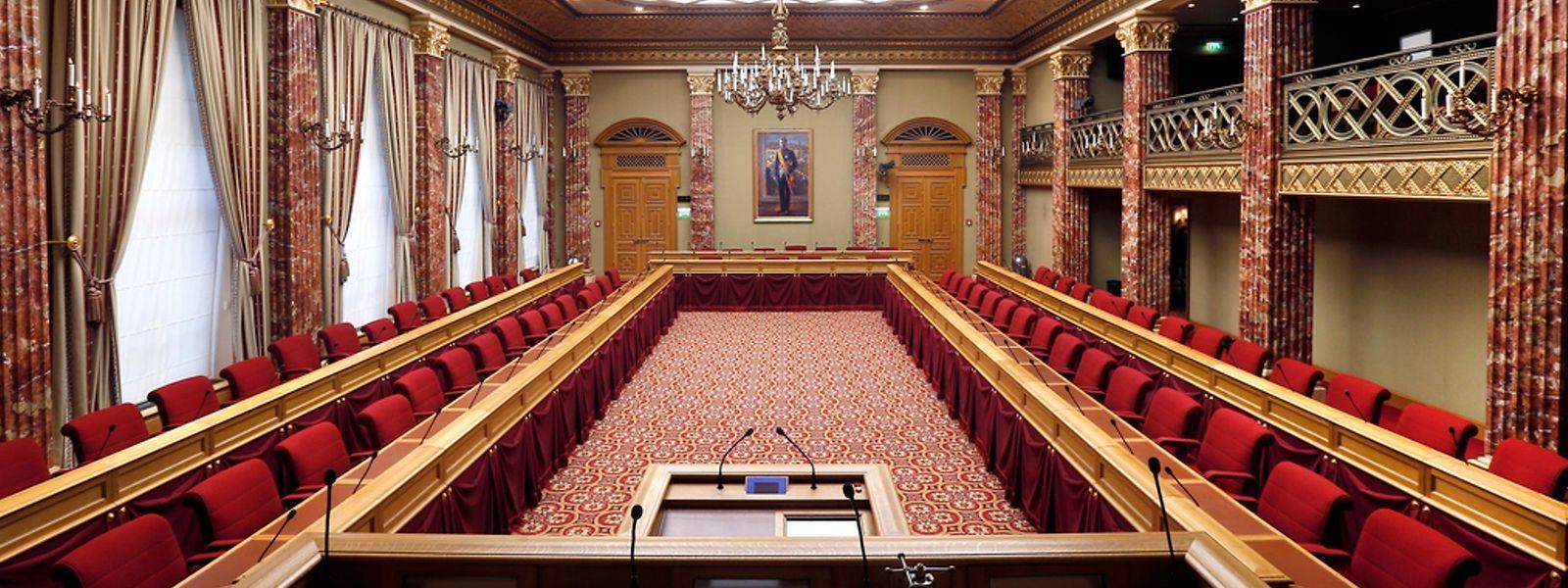 La Chambre des députés du Luxembourg où se déroulent les débats publics.