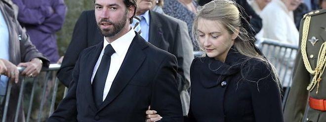 Erbgroßherzog Guillaume und und seine Verlobte Stéphanie trauern um Gräfin Alix de Lannoy.