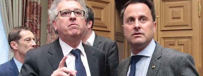 Beide werden wohl nicht mehr als mutige Haushaltssanierer in die Geschichte eingehen: Premierminister Xavier Bettel (rechts) und Finanzminister Pierre Gramegna (links).