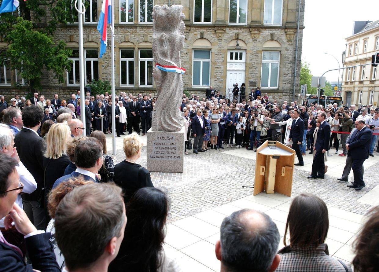 Das Denkmal des franko-israelischen Künstler Shelomo Selinger, soll die Erinnerung an die Verbrechen der Nazis an Juden wachhalten.