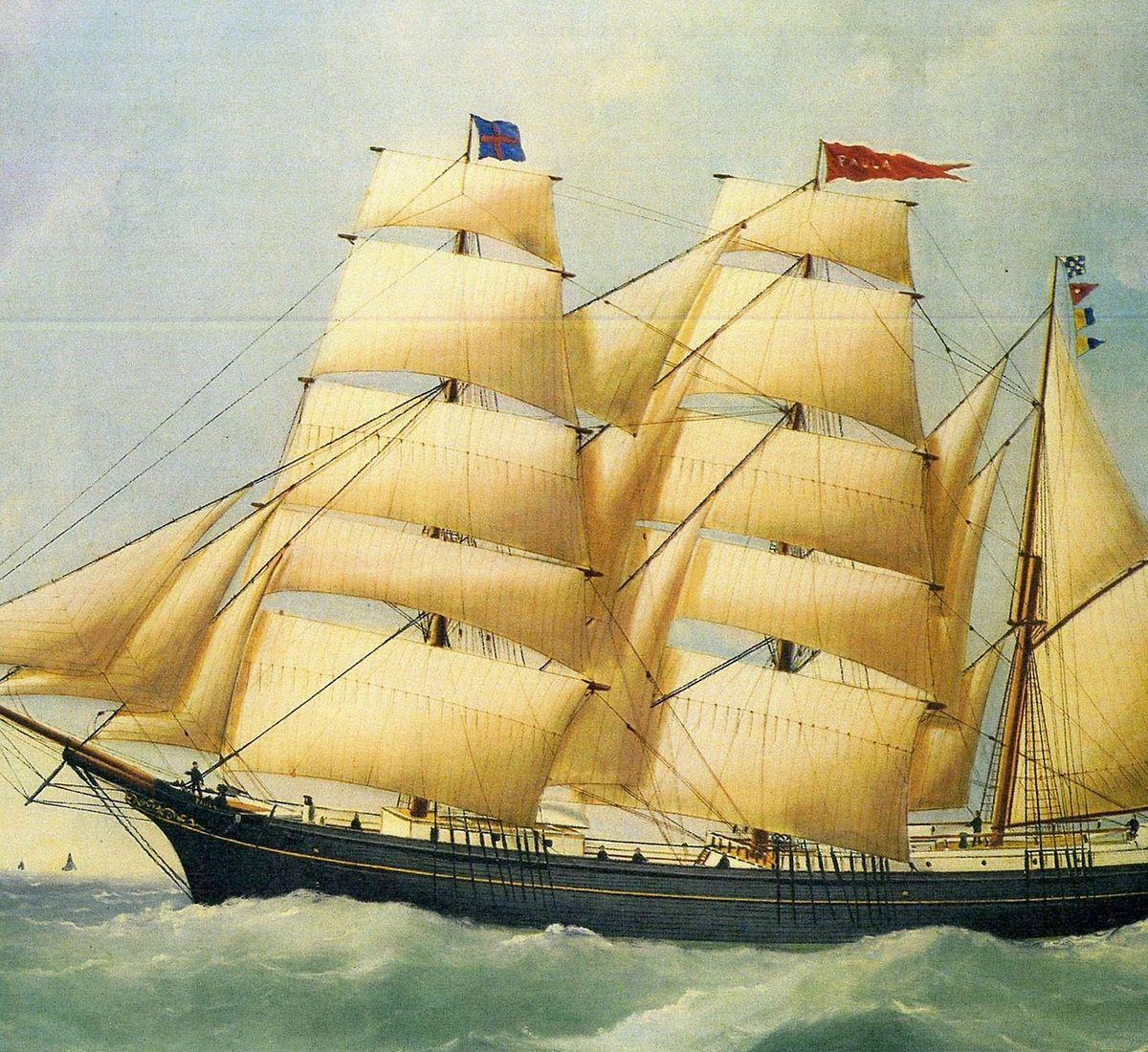 """Der Segler """"Paula"""" war mit einer Ladung Kohle von Wales nach Indonesien  unterwegs. Im Auftrag eines Forschungsinstituts warf der Kapitän die  """"Stromflasche"""" über Bord."""