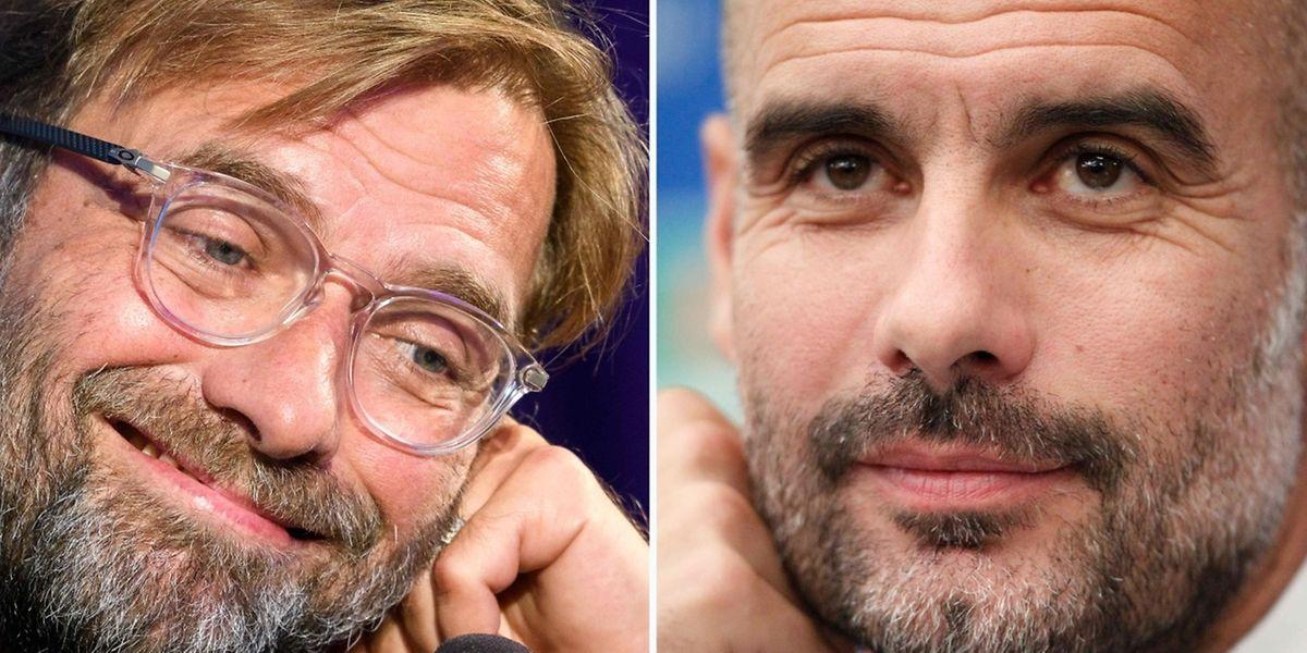 Jürgen Klopp et Pep Guardiola, deux apôtres du beau jeu.