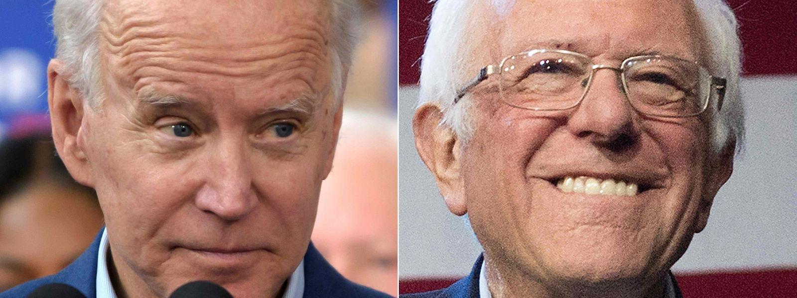 Das Duell um die Präsidentschaftsnominierung bei den US-Demokraten wird wohl auf Joe Biden (l.) und Bernie Sanders hinauslaufen.